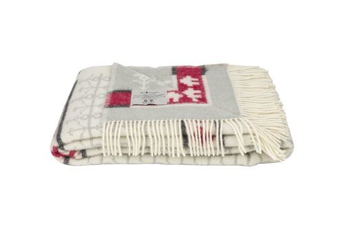 Öjbro Ekshärad Kalk 100% Merino Wool Blanket 130x220cm