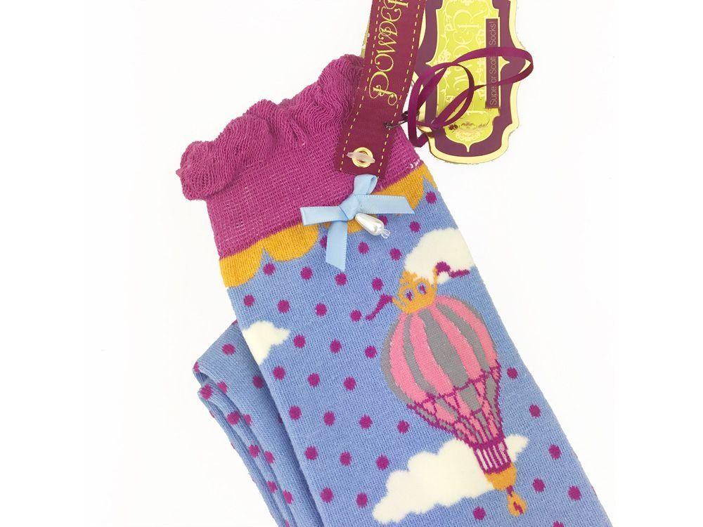 Powder Long Hot Air Balloon Socks in Lavender