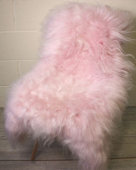 Pale Pink Icelandic Sheepskin L