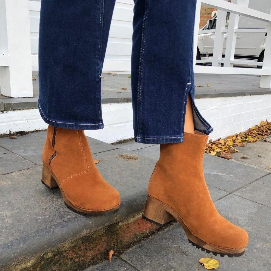 Sanita Henna Flex Sole Cognac Suede Boots