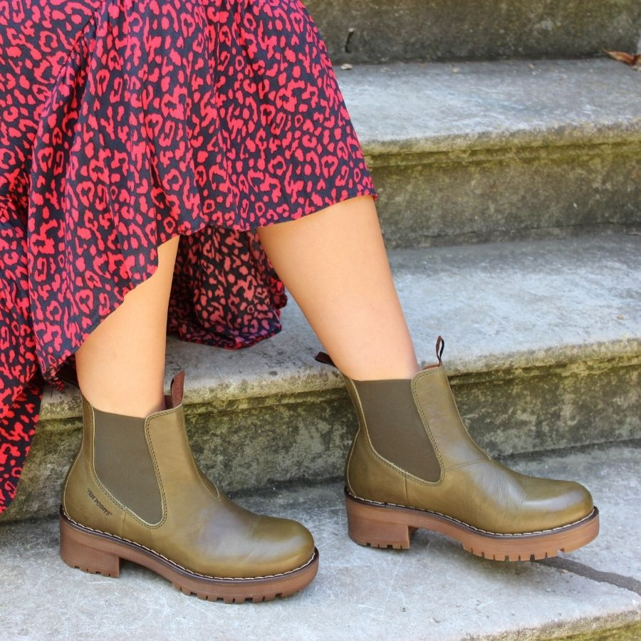 Ten Points Clarisse Chelsea Boot Leaf