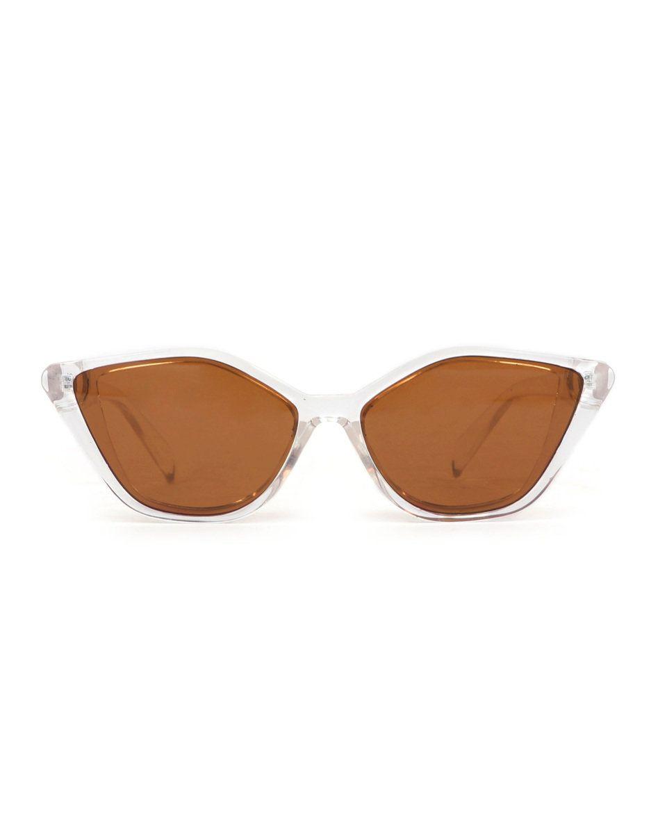 Powder Valentina Sunglasses in Clear