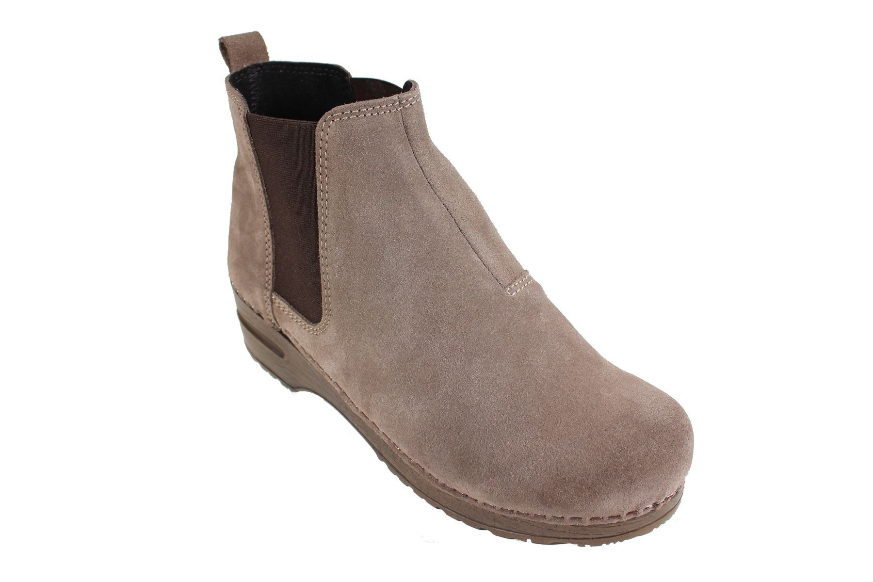 Sanita Vaika Soft Sole Boot in Suede Leather in Taupe