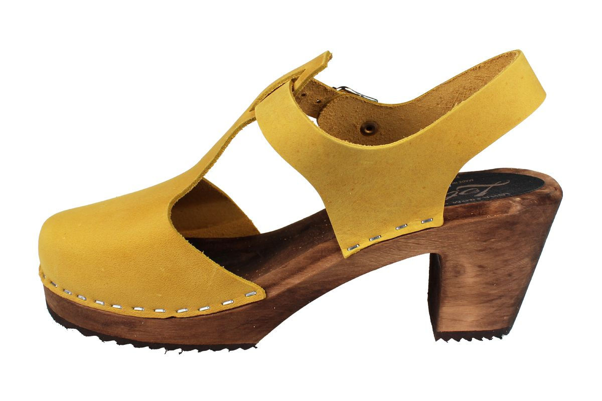 Highwood T-Bar Yellow Oiled Nubuck on Brown Base Seconds