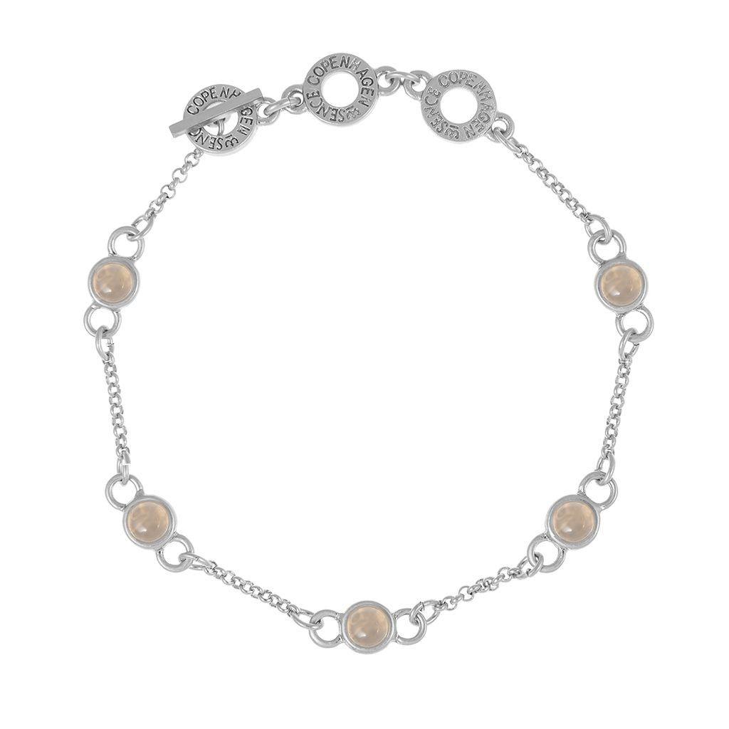 Aloha Bracelet Grey Agate Worn silver