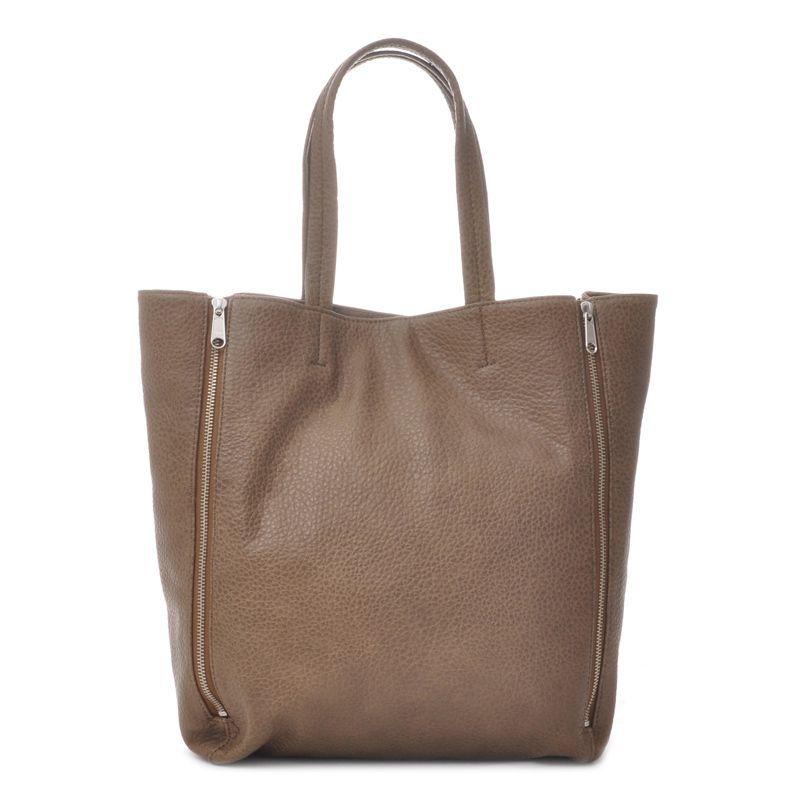 Ceannis Zipper Tote Bag in Mole