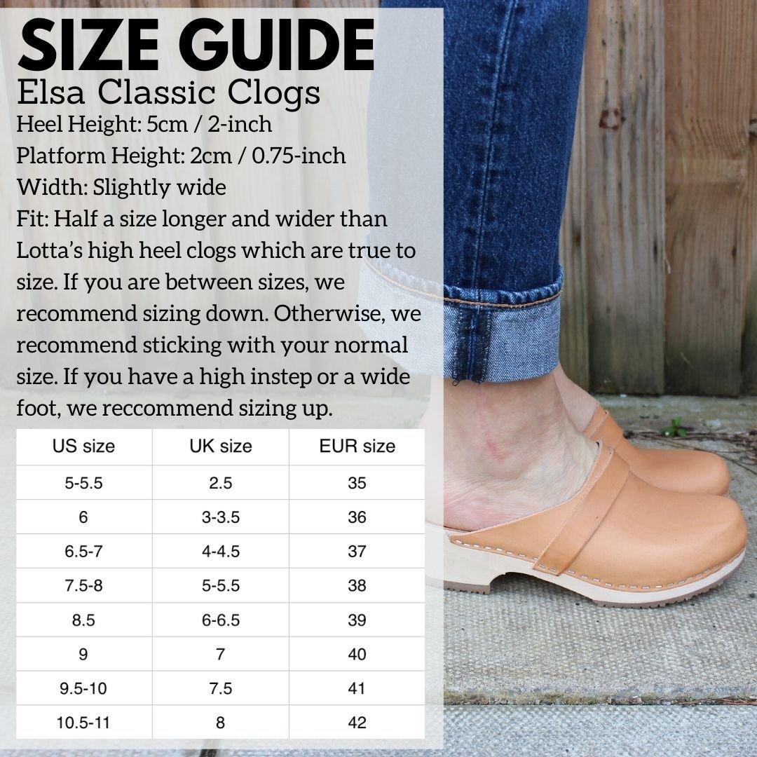 Elsa Size Guide