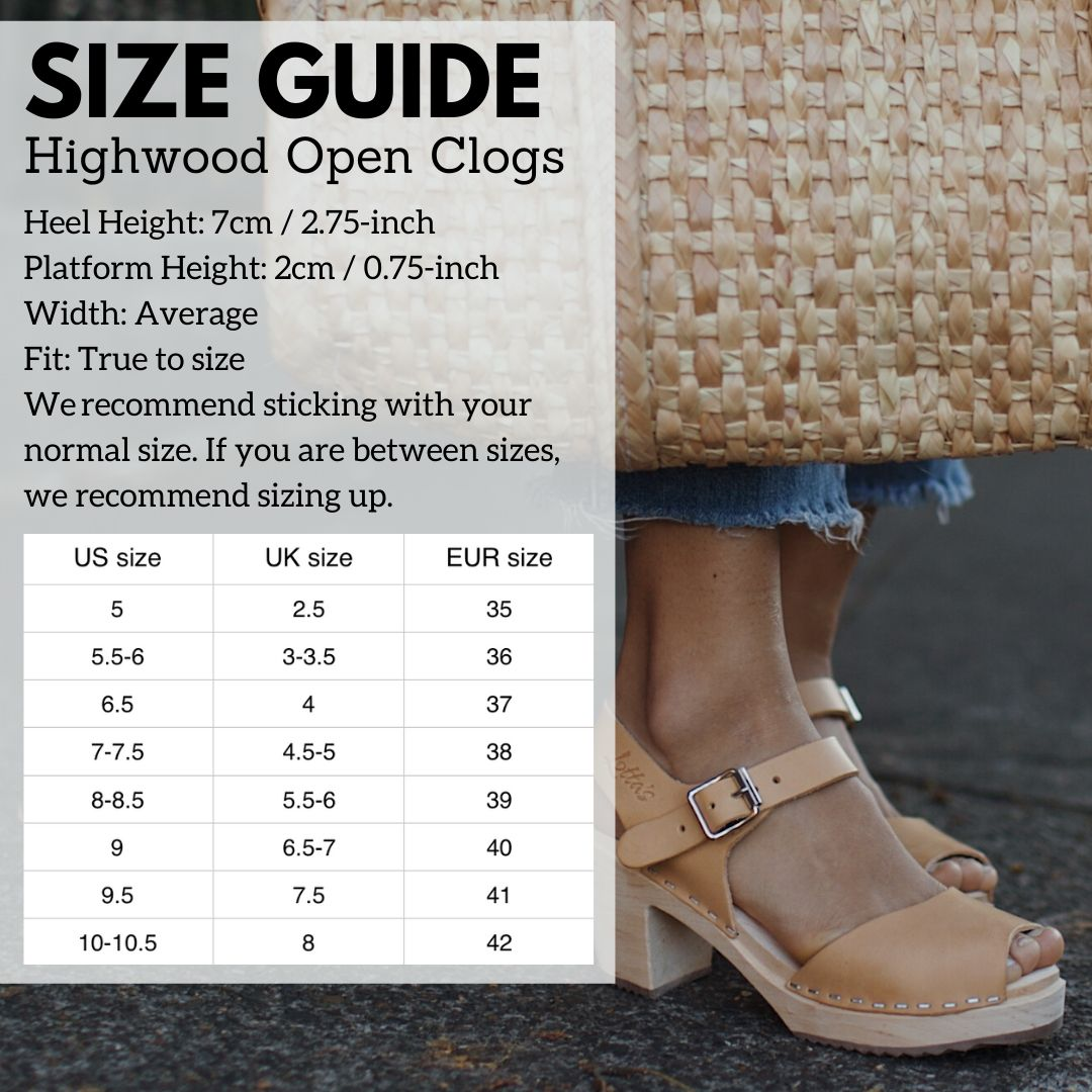 Highwood Open Size Guide