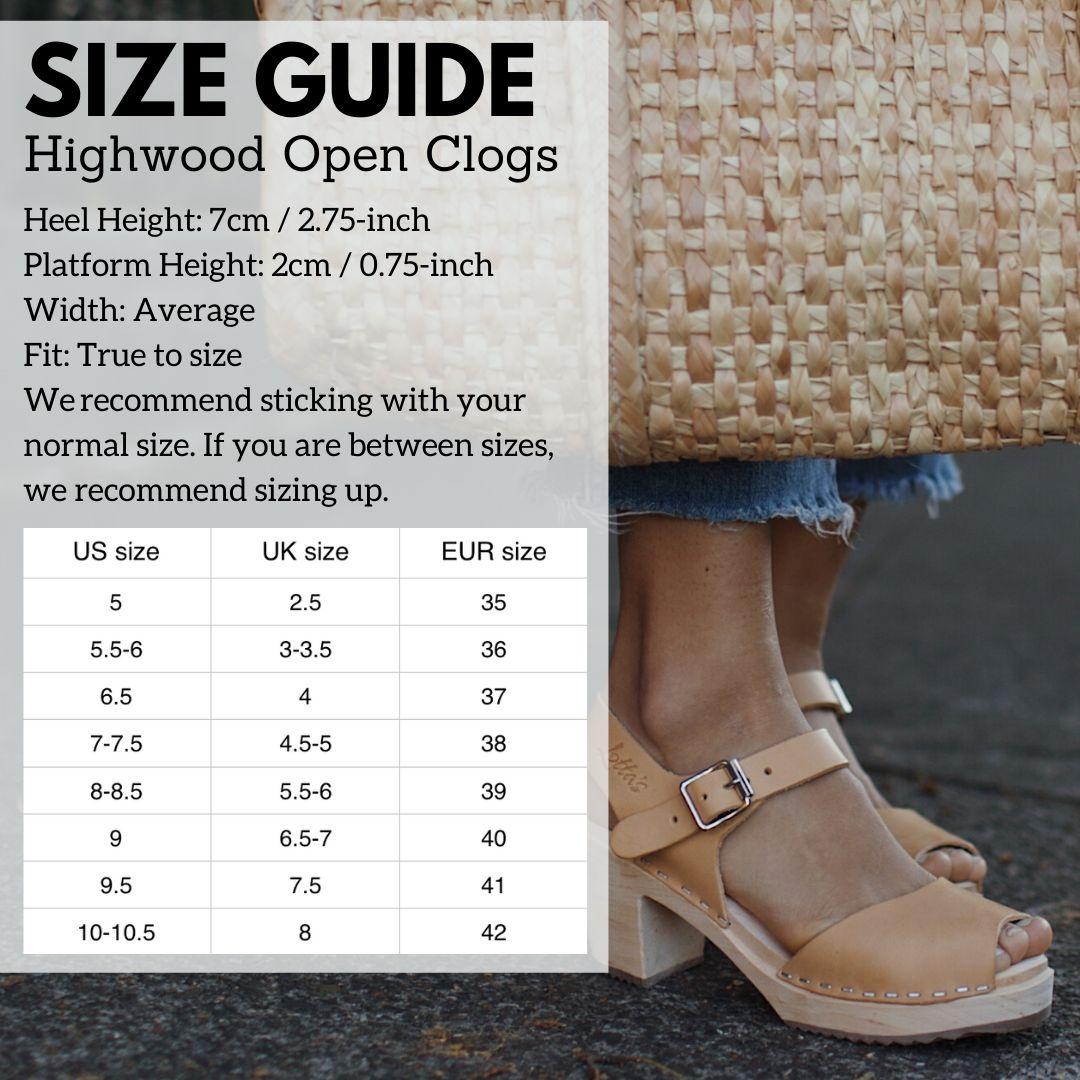 Highwood Open Size Guide
