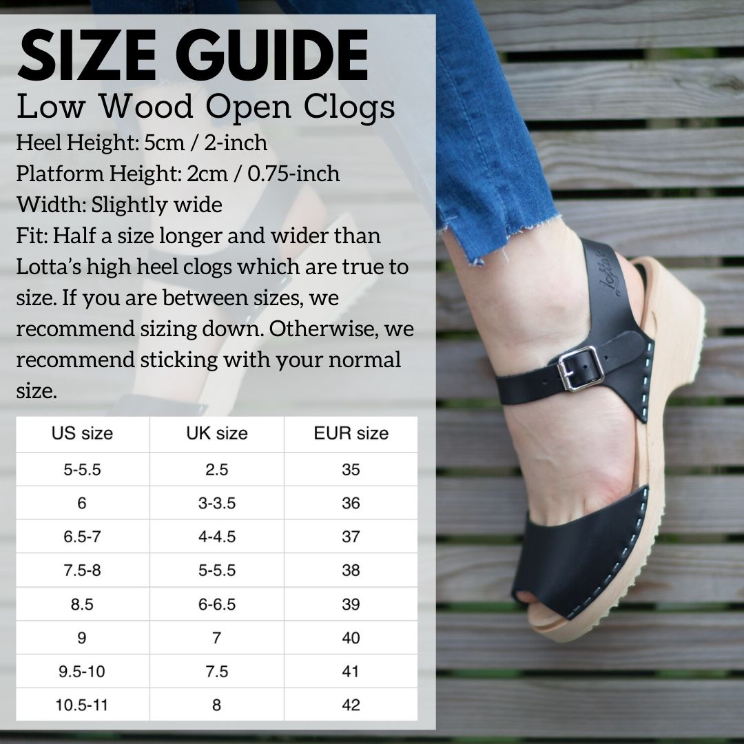 Low Wood Open Size Guide